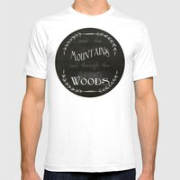 Over the Mountains Mens Fitted Tee White SMALL