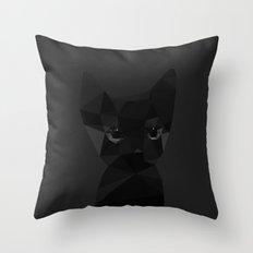 Cut fragments Cat Throw Pillow