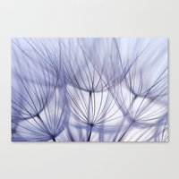 Canvas Print featuring Dandelion in Blue by Lawson Images