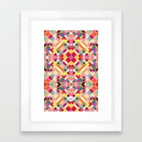 Out Square Framed Art Print