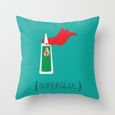 SuperGlue Throw Pillow