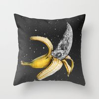 A Planetary Plantain Throw Pillow