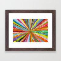 Exploding Rainbow Framed Art Print