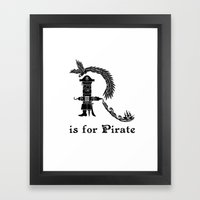R is for Pirate Framed Art Print