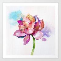 The Sacred Flower Art Print