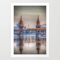 Frozen Bridge Berlin Art Print