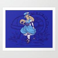 Steampunk Alice Art Print