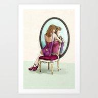 Art Print featuring Vanity Games - Zelda by Keith P. Rein