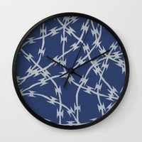 Trapped Navy Wall Clock