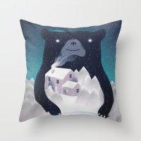 I ♥ Winter Throw Pillow