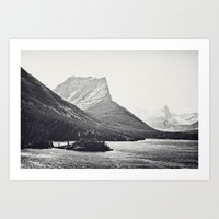 Glacier Mountain Lake Bl… Art Print