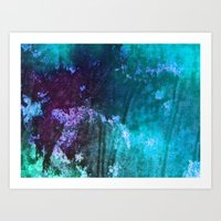 Blue Stems Art Print