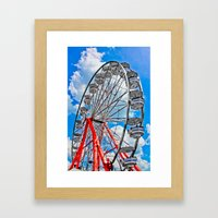 Red, White & Blue Ferris… Framed Art Print