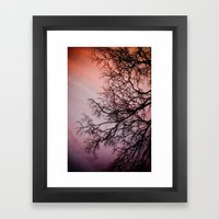 Purple & Fire Framed Art Print