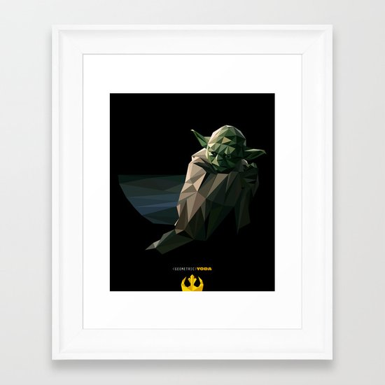 Geometric Yoda Framed Art Print