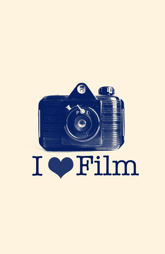 I ♥ Film (Blue/Peach) Canvas Print