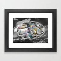 Polygon Heaven Framed Art Print