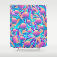 Blind Face Shower Curtain