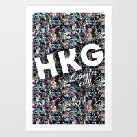 Hong Kong (Libertee City… Art Print
