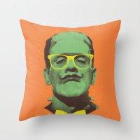 Mr Frank Throw Pillow
