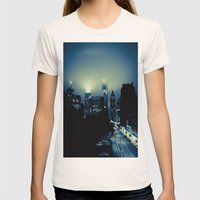 Philly glow Womens Fitted Tee Natural SMALL