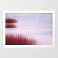 abstract sea Art Print