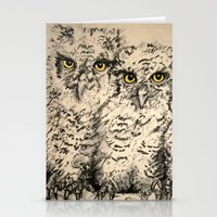 Owls 2.5 Stationery Cards