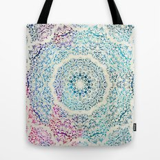 Watercolor Mandala Tote Bag