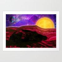 Sunrise On The Red Plane… Art Print