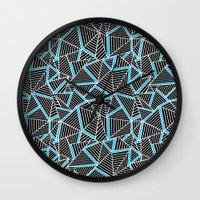 Ab 2 Repeat Blue Wall Clock