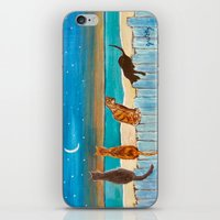 Cats On A Fence iPhone & iPod Skin