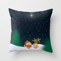 Nicolas&Rudolph (Star) Throw Pillow