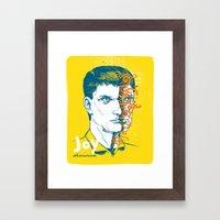 Ian Curtis Framed Art Print