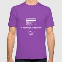 Emergency Contact Mens Fitted Tee Ultraviolet SMALL