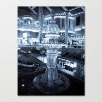Twilight Fountain Canvas Print
