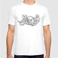 8 Arms In Motion V2 Mens Fitted Tee White SMALL