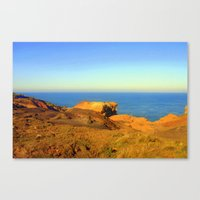 Barren land meets the Ocean Canvas Print