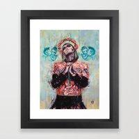 Portrait Of Rick Genest … Framed Art Print
