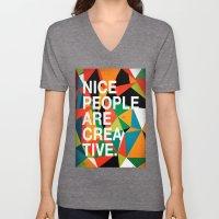 Nice People Are Creative Unisex V-Neck