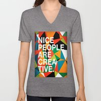 Nice People Are Creative Unisex V-Neck