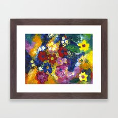 Bright Flowers Framed Art Print