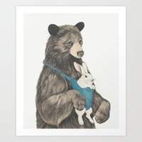 The Bear Au Pair Art Print
