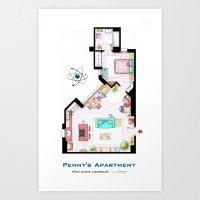 Penny's Apartment Floorp… Art Print