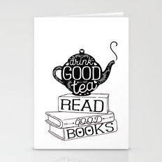 Drink Good Tea, Read Goo… Stationery Cards
