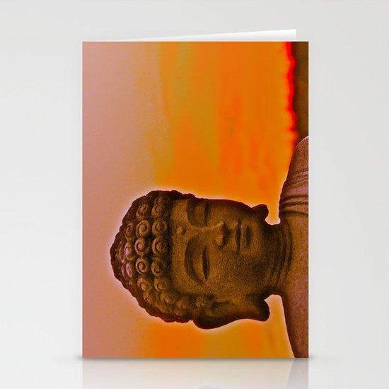 Buddha's Peaceful Sunset Stationery Card