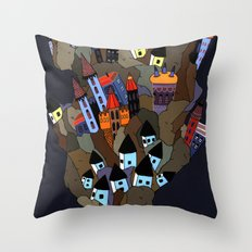 Floating Rock Throw Pillow