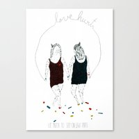 Love hurts... We prefer to step on Lego pieces Canvas Print