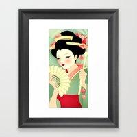 Geisha: Rose Framed Art Print