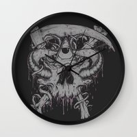 Sickle & Bone  Wall Clock