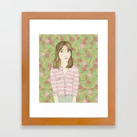 ¿eres normal? Framed Art Print